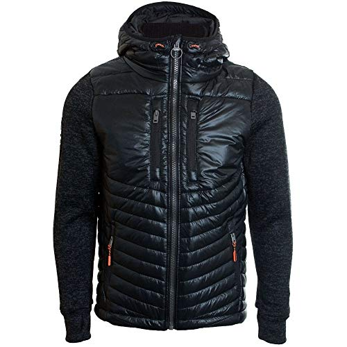 Superdry Jacke Herren Storm HYBRID Black Granite Marl, Größe:XL