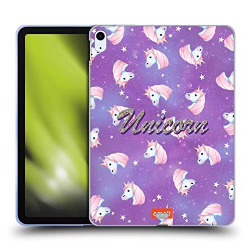 Head Case Designs Officially Licensed emoji Unicorn Glitter Sparkles And Pastels Soft Gel Case Compatible With Apple iPad Air (2020)