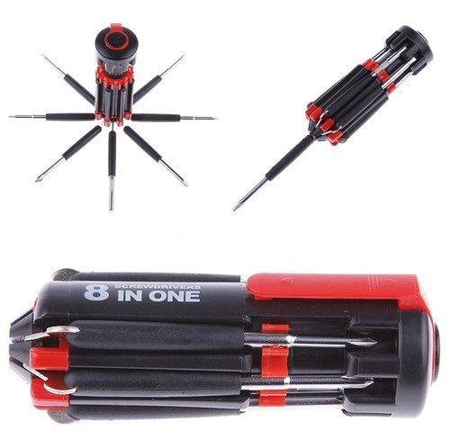 Kangsanli@ Juego de Herramientas de Destornillador 8 en 1 Mano con 6 linternas LED potentes Juego de Destornilladores para PC, Móvil, Coche, Bicicleta, Accesorios