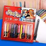 SongJX-Love Juguetes 12 Colores for Halloweens no tóxico Lavable Pintura del Cuerpo Cara Crayon GZZXW
