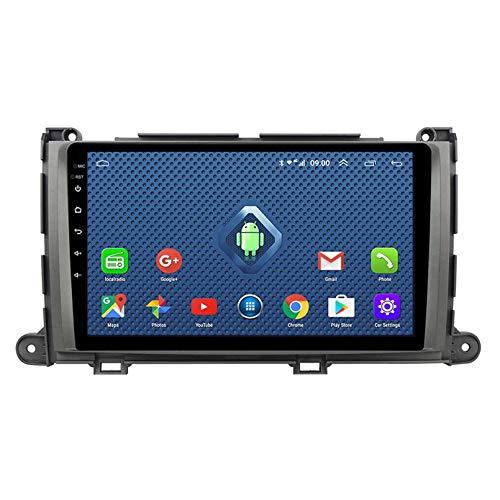 Android 8.1 Car Radio Para Toyota Sienna 2011-2013 Estéreo Para Automóvil Navegación GPS Pantalla Táctil Reproductor Multimedia Para Automóvil Unidad Principal De(Size:cuatro nucleos,Color:WIFI:1+16G)