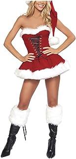 3d523fd0858 Fan008 Sexy Santa Outfit Mrs Claus Costume Adult Christmas Fancy Dress Hat  Set