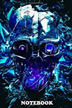 """Notebook: Dishonored Mask Of Assassin Abstract Background Artwork , Journal for Writing, College Ruled Size 6"""" x 9"""", 110 Pages"""