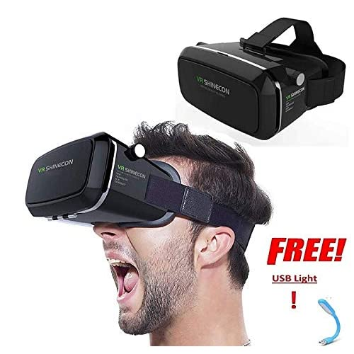 e7f4357a28 Renyke Virtual Reality Glasses 3D VR Box Headsets for All Smart Devices  Mobile Phones and USB