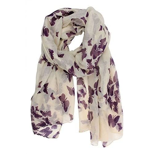 e23c5de94abf0 World of Shawls New Butterfly Print Ladies Celebrity Style Scarves Maxi,  Scarf, Wrap,