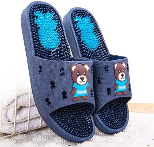 TQQ Zapatillas de Baño Niño Zapatillas De Baño Ducha Cuarto De Baño Sandalias Sandalias De Acupresión Sandalias De Masaje Para Masajes Zapatos De Masaje Quick Decking Bañera Ducha Zapatillas Sandalias