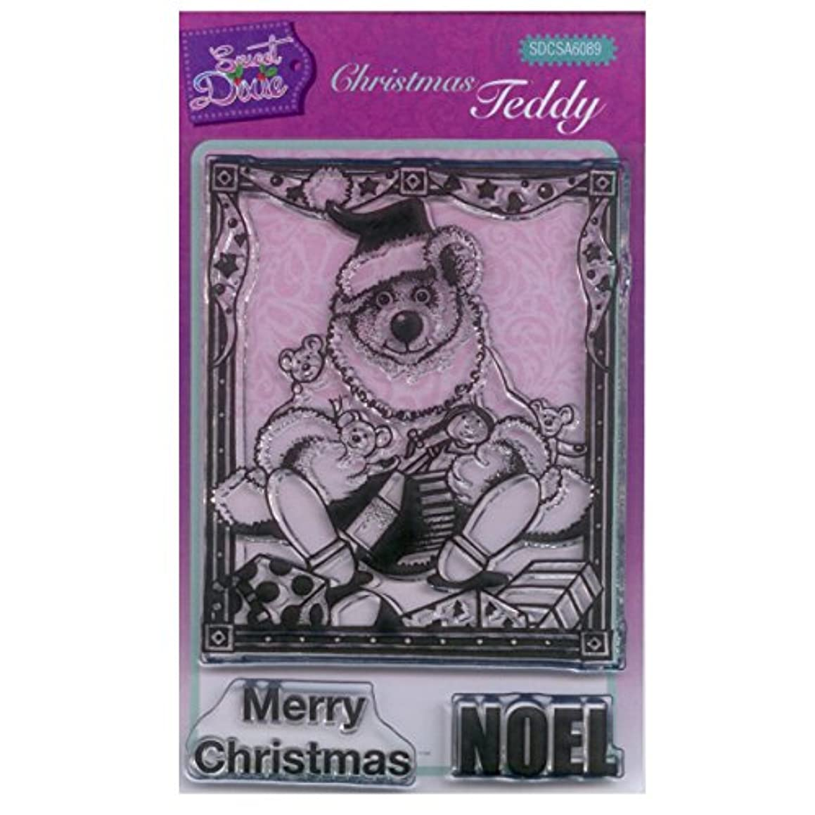 Sweet Dixie A6 Clear Stamp Set - SDCSA6089 Christmas Teddy