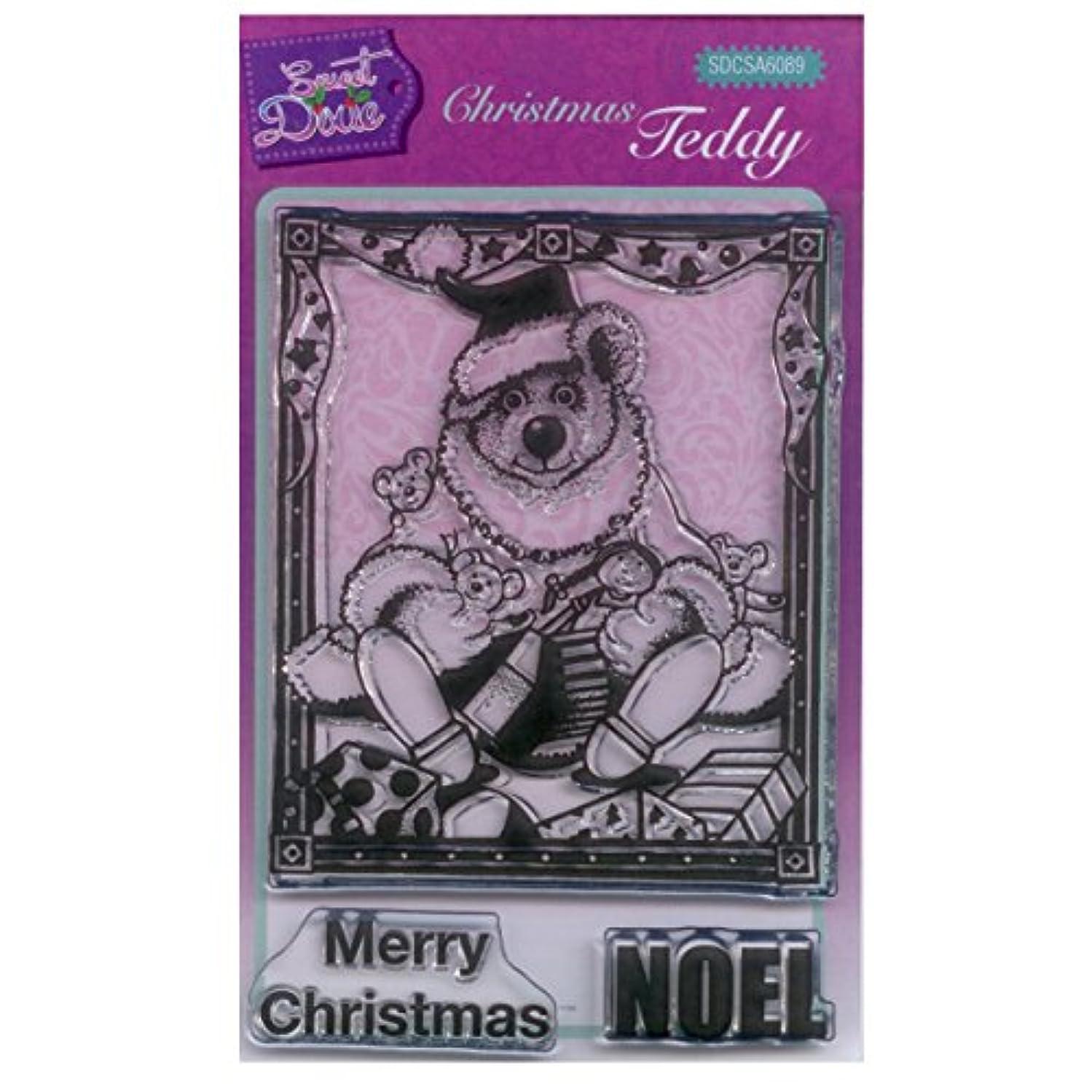 Sweet Dixie A6 Clear Stamp Set - SDCSA6089 Christmas Teddy