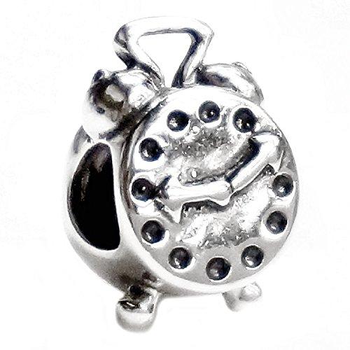 Queenberry Sterling Silber Classic antik Wecker im europäischen Stil Charm Bead