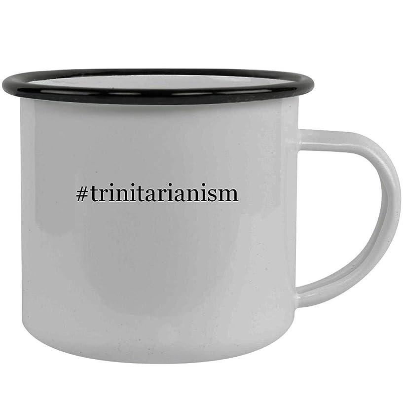 #trinitarianism - Stainless Steel Hashtag 12oz Camping Mug, Black
