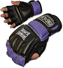 Ring to Cage Womens MMA Kickboxing Fitness Bag Gloves - Purple (Lavender) or Pink Color - Small or Medium Size