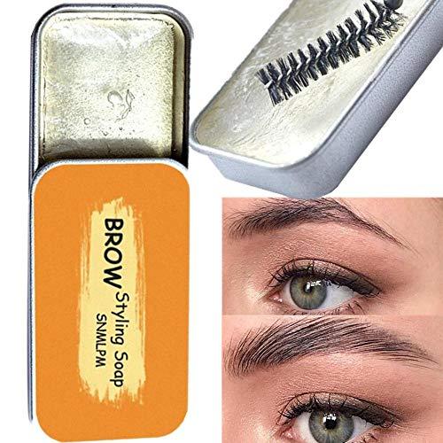 3D Augenbrauen Make-up Stlying Gel Seife Augenbrauen Kit Augenbrauen Shaping Wax Brow Langlebige Einstellung Gel mit Pinsel Wasserdichte Augenbrauen Tönung Augenbraue Tattoo Dye Kosmetik Frauen