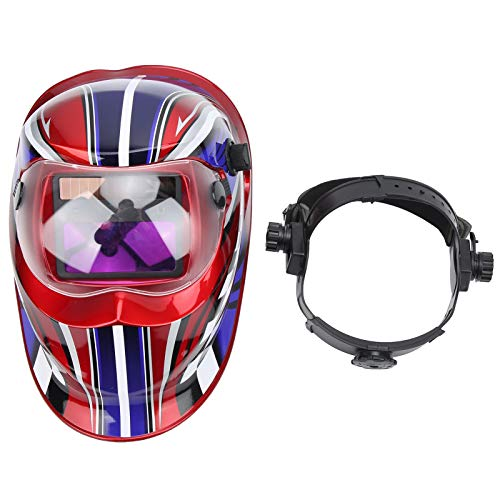 Casco protector de soldadura montado en la cabeza, cubierta de soldadura montada en la cabeza Casco protector facial completo con atenuación automática Gorra de soldador eléctrico