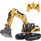 TongLi 1580 1:14 Scale All Metal RC Excavator Toy for Adults Remote Control Digger Construction Trucks 2.4Ghz Powerful Upgraded V4 with New Motherboard