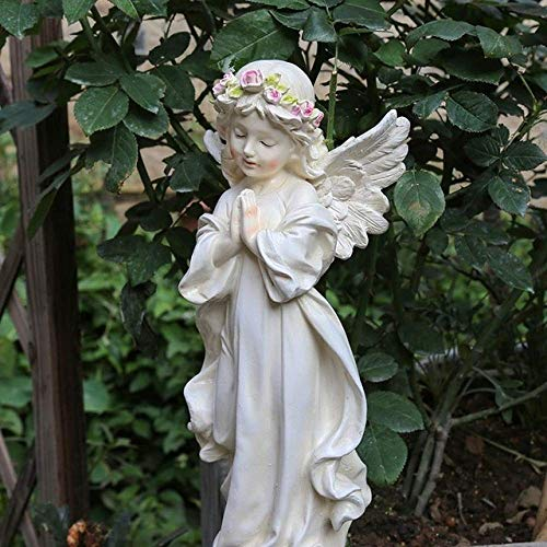 JYKFJ Garden Figurines decoration statue Outdoor Home Small Angel Fairy Sculpture Resin Ornaments Courtyard Desktop Figurines