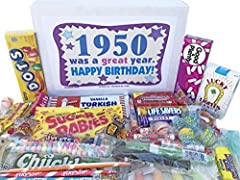 HUGE VARIETY OF CANDIES INCLUDED: 30 different kinds of classic old fashioned and unusual candies, including a few treats that younger family members will recognize LET THEM REMINISCE ABOUT THEIR CHILDHOOD THIS BIRTHDAY: Candy assortment of the most ...