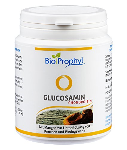 BioProphyl® Glucosamin Chondroitin - Gelenkkomplex mit 400mg Glucosaminsulfat und 200mg Chondroitinsulfat ergänzt mit Vitamin E und Mangan - 90 Kapseln