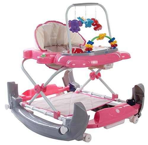 Sun Baby B01.011.1.10 Kitty Baby Walker/Rock-Pink Grey, Mehrfarbig