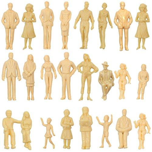 情景コレクション 人間 人形 人物 人間フィギュア 未塗装 1:25 24本入り 箱庭 装飾 鉄道模型 建物模型 ジオラマ 教育 DIY