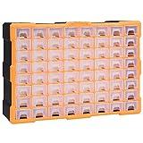 vidaXL Organizador Multicajones con 64 Cajones Herramientas Armario Almacenamiento Taller Pared Caja...