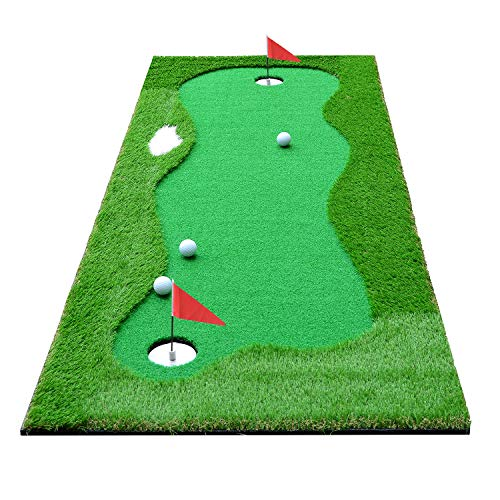 HOGAR AMO Alfombra de Putting para Golf 75 cm x 300 cm para...