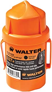 Walter Surface Technologies 01E618 29-Piece Jobber's Length Bits - Round Shank SST+ Drill Bit Set. Drilling Tools and Accessories