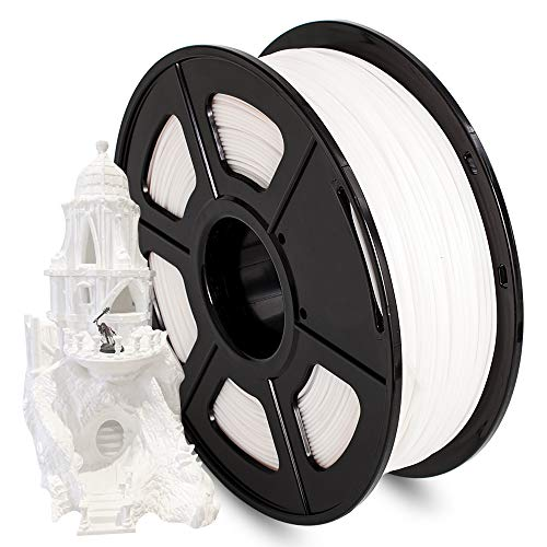 AnKun Pla+ Filament 1.75mm, White PLA Plus 3D Printing Material for 3D printer and 3D Pen, Dimensional Accuracy +/- 0.02mm, 1kg 1 Spool
