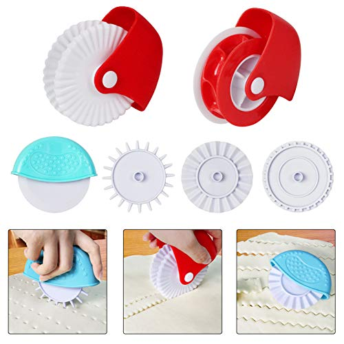 Pastry Wheel Decorator and Cutter,Set of 6 Beatiful Pie Crust,Pastry Pie Lattice Decoration for Baking,Pastry lattice Decoration Tools