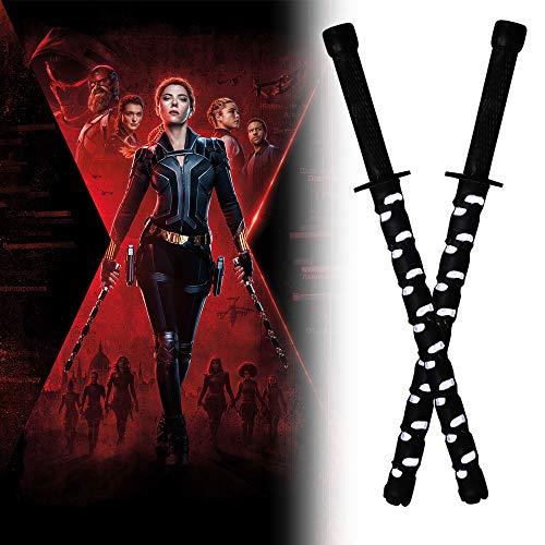 2PCS Black Widow Natasha Electric Staff LED Baton Stick Cosplay Superhero Props