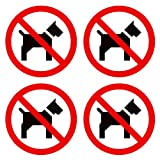 dealzEpic - No Pets Inside/No Pets Allowed Sign | Self Adhesive Vinyl Decal Sticker | Pack of 4 Pcs