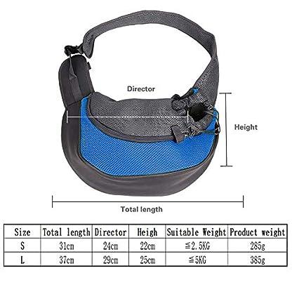 PETEMOO Pet Sling Carrier Bag, Hand-Free Dog Cat Outdoor Travel Shoulder Bag with Adjustable Strap& Zipper 3