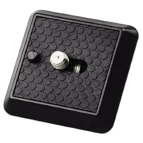 Hama Schnellkupplungsplatte (für Stative Profil 70 - 89 und Gamma, A 1/4 Zoll Gewinde) schwarz