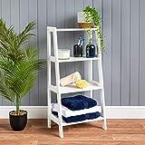 <span class='highlight'><span class='highlight'>CHRISTOW</span></span> White Ladder Shelf Wooden 4 Tier Storage Unit Display Stand Bathroom