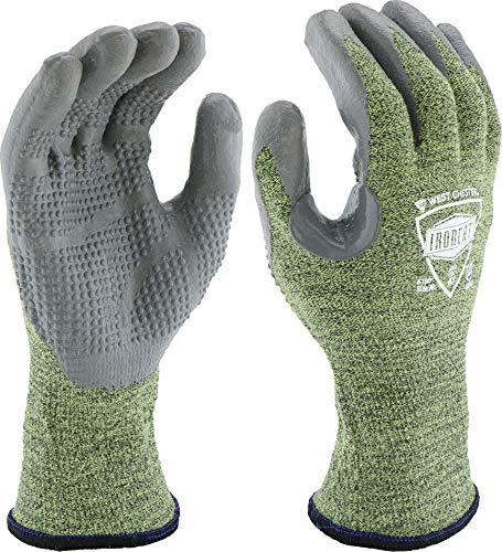 West Chester IRONCAT 6100 Metal Tamer TIG Welding Gloves - [1 Pair] Large, Material Used>, Fire Resistant Silicone Coated Palm Knit. Welder Safety Wear