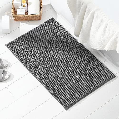 TWBEST Alfombra de baño, Alfombra Absorbente Antideslizante, Alfombra de baño de Microfibra esponjosa, alfombras de Ducha de Chenilla Suave Absorbente de Agua, Lavable a máquina