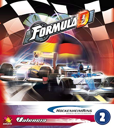 Asmodee 200710 - Formula D, Gioco da Tavolo - Espansione n° 2: Hockenheim/Valencia [Lingua Tedesca / Spagnola]