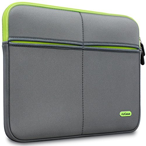 AirCase 13-Inch to 13.3-Inch Laptop Sleeve, Premium, Suave, 6-MultiUtility Pockets (Gray)