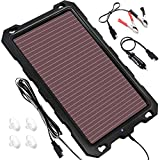 Solar Car Battery Trickle Charger, 12V 3.3W Solar Battery Charger Car, Waterproof Portable