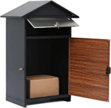 BGYX Big Entrance Parcel Drop Box - Heavy Duty Weather Proof W/Lock for Parcel/Mail - for Commercial Rural Home Office or Business Use