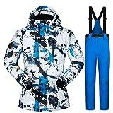 Yeah-hhi Traje de esquí para hombre, juego de chaquetas y pantalones de esquí,...