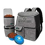 PetAmi Dog Travel Bag Backpack | Backpack Organizer with Poop Bag Dispenser,...