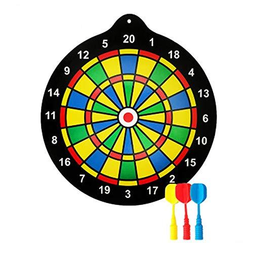 BESISOON Eltern-Kind-Interactive Toys Magnetische Dartscheibe Set 11,8 Zoll Dartscheibe mit 6 Magnet Darts für Kinder und Erwachsene Geschenk für Spielzimmer Büro Mann Höhle und Zuhause