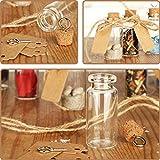 com-four® 60x Glasfläschchen ideales Gastgeschenk zur Hochzeit oder Geburtstag, Zubehör für Hochzeit, Tee, Gewürzen, Samen, Kräutern ca. 10 ml (060 Stück + Zubehör) - 2
