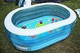 HJQFDC Faltenbad, aufblasbarer Pool, zentraler, transparenter ovaler Pool, Babypool, Pool des Meeres, Kinderbecken, Garten Party Spielzeug Party Toys Peng MEI