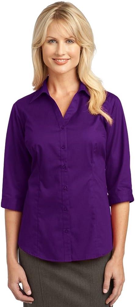 Port Authority Ladies 3/4-Sleeve Blouse. L6290