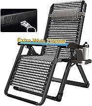 KDRICH Zero Gravity fauteuil, met bekerhouder oversized extra brede patio liggende stoelen verstelbare woonstoel opvouwbaa...