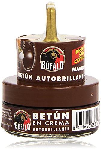 Búfalo - Betún en Crema Autobrillante, Marrón, 40 Ml
