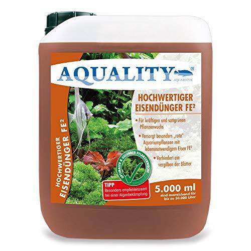 AQUALITY Aquarium Eisendünger FE² (Enthält den wichtigen und unentbehrlichen Pflanzennährstoff Eisen FE² - sattgrüner Pflanzenwuchs), Inhalt:5 Liter
