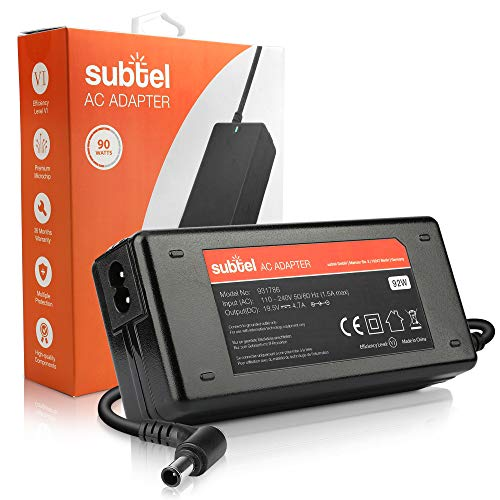 subtel Fuente de Alimentación 19.5V 92W Compatible con Sony VAIO PCG-71811M, PCG-81212M / VPC-Eh, VPC-S/SVE/SVF/SVS/SVT/VGN- Cable Corriente 2.6m Cargador Rapido Ordenador Portatil