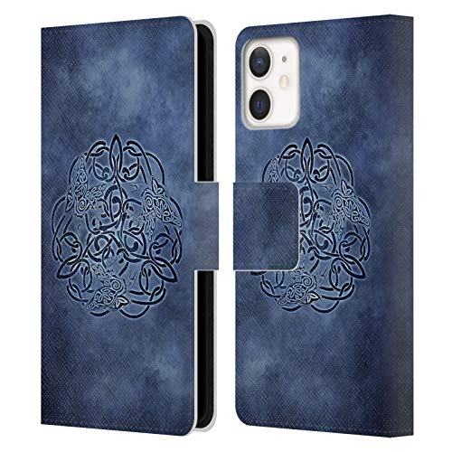 Head Case Designs Officially Licensed Brigid Ashwood Knot Raven Celtic Wisdom Leather Book Wallet Case Cover Compatible with Apple iPhone 12 Mini